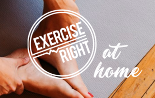 Exercise Right At Home